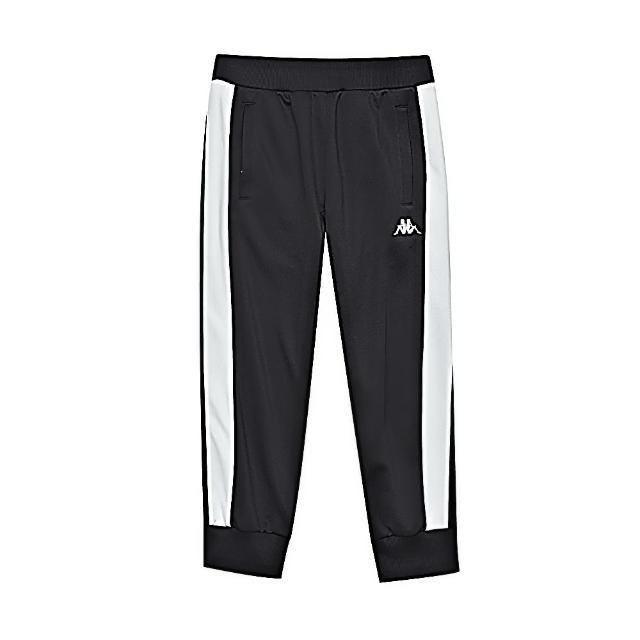 【KAPPA】時尚運動女生針織五分褲 黑(361781W005)