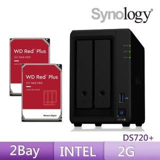 【搭WD 4TB Plus x2】Synology 群暉科技 DS720+ 網路儲存伺服器