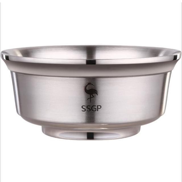 【PUSH!】廚房用品雙層隔熱304不鏽鋼加深防滑碗雙層湯碗防燙碗(16公分E133)