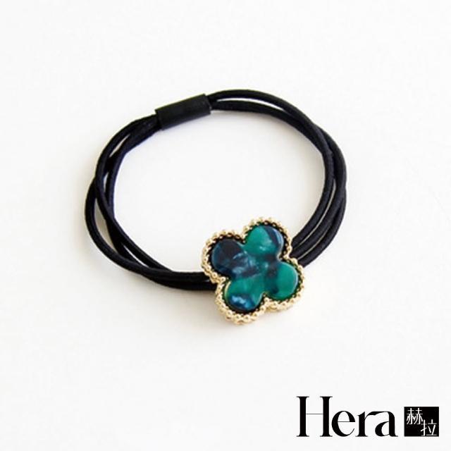 【HERA 赫拉】韓國百搭幸運草髮圈髮束-三色(韓版 髮圈 幸運草)