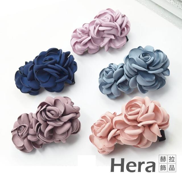 【HERA 赫拉】韓版浪漫玫瑰髮夾/彈簧夾-五色(韓版 髮圈 玫瑰)