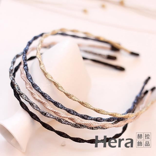 【HERA 赫拉】韓版流行款超細布質波浪髮箍-五色(五色 髮箍)