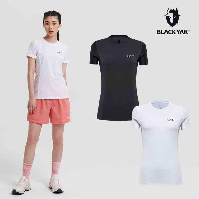 【BLACK YAK】女 BAC SURAK吸排短袖上衣 [白色/黑色]BYAB1WC503(韓國春夏 短袖 女上衣)