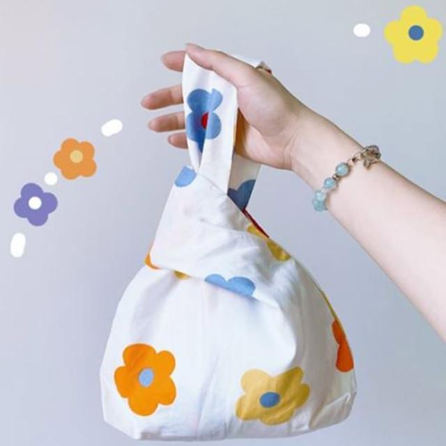 【I FUN】現+預 氣質日系輕便手腕帆布袋(隨身包/外出包/手提包)