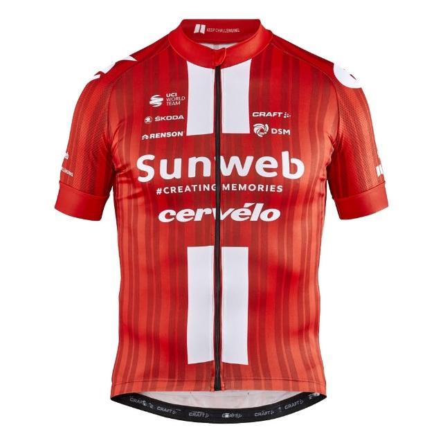 【CRAFT】Team Sunweb 車隊版短袖車衣 1908208 紅色20年(男款 環法 車隊版 紅色 20年)
