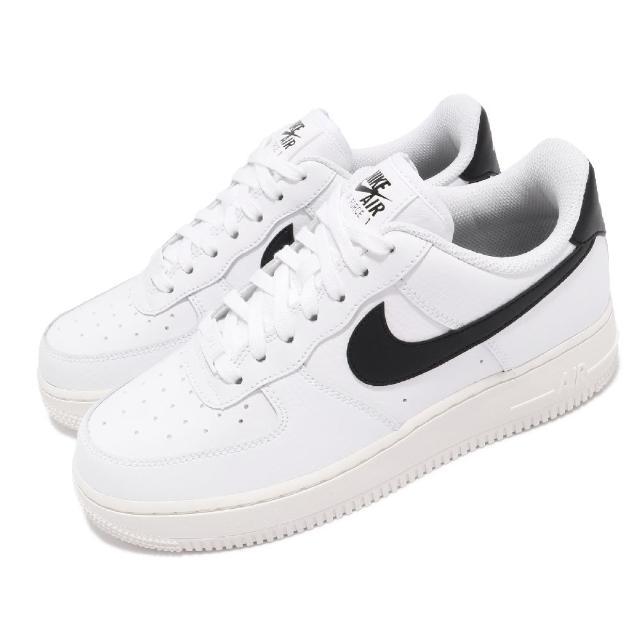 【NIKE 耐吉】休閒鞋 Air Force 1 07 運動 女鞋 經典款 舒適 簡約 皮革 AF1 穿搭 白 黑(315115-165)