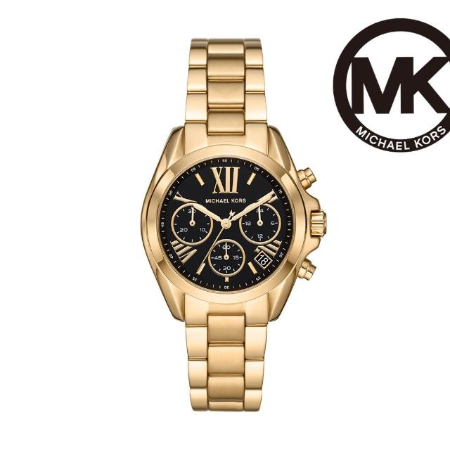 【Michael Kors】Bradshaw 時間旅人計時女錶 金色不鏽鋼鍊帶 36MM MK6959