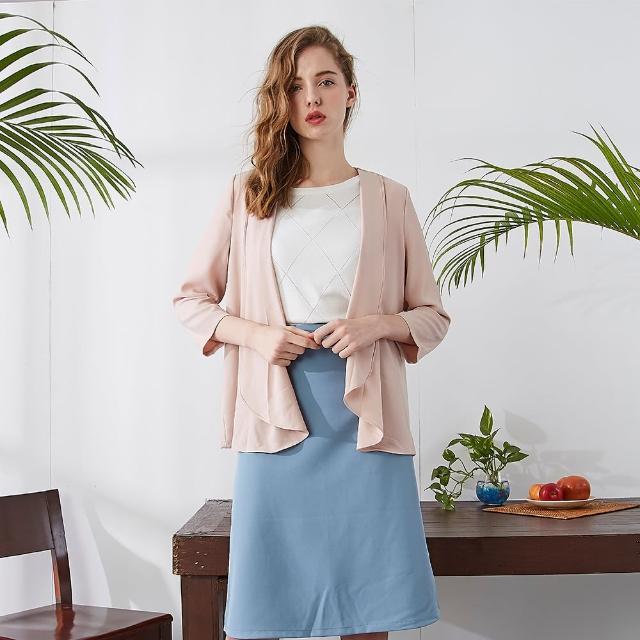 【MASTINA】休閒式罩衫-女長袖外套(二色/版型適中)