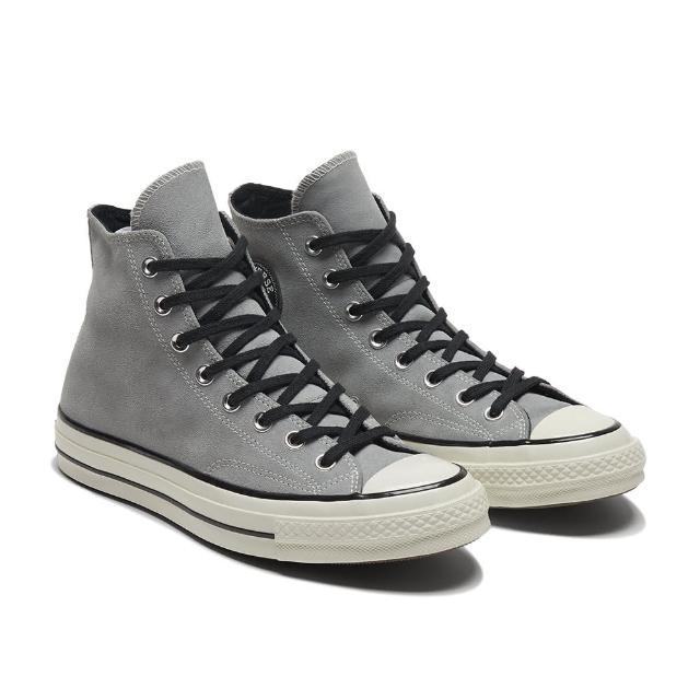 【CONVERSE】CHUCK 70 HI 高筒 休閒鞋 女 簡約 麂皮 灰色(169338C)
