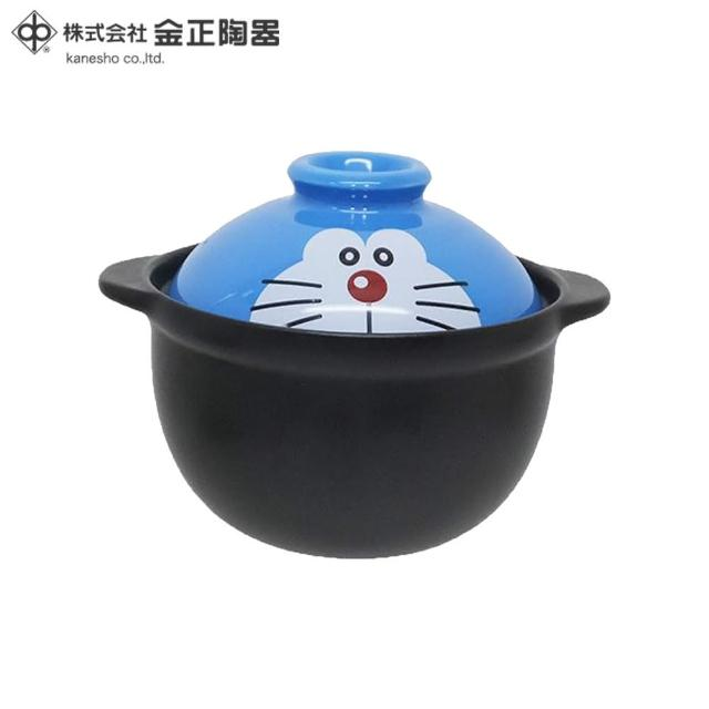 【Doraemon 哆啦A夢】日本金正陶器 哆啦A夢陶瓷一人用土鍋 小火鍋 650ml(日本製 日本原裝進口瓷器)
