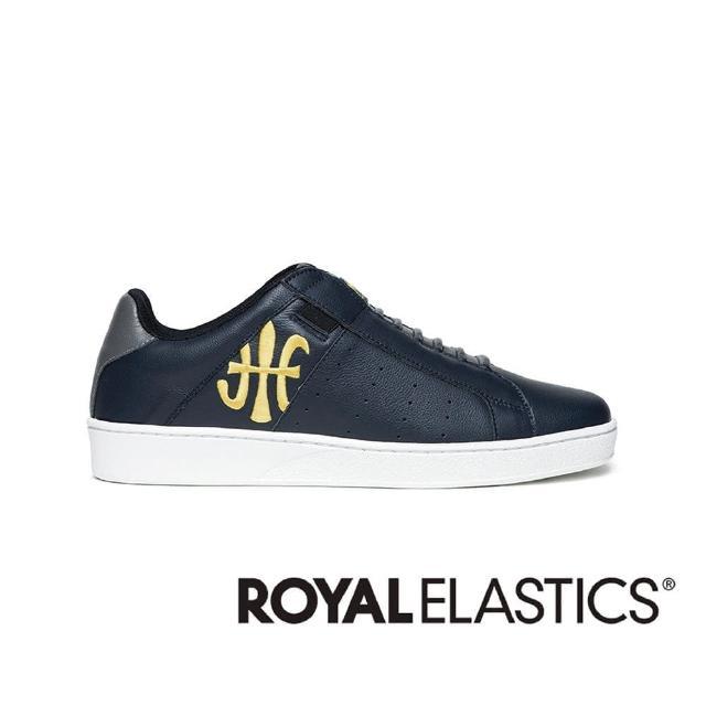 【ROYAL Elastics】ICON 海軍藍真皮運動休閒鞋(男 01912-538)
