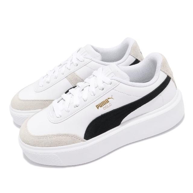 【PUMA】休閒鞋 Oslo Maja Archive 女鞋 厚底 微增高 穿搭推薦 麂皮 白 黑(37505701)
