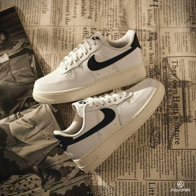 【NIKE 耐吉】W Air Force 1 07 女 白黑 經典 舒適 簡約 皮革 休閒鞋 315115-165