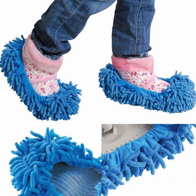 【iSFun】清潔妙手纖絨毛除塵鞋套(隨機色1雙)