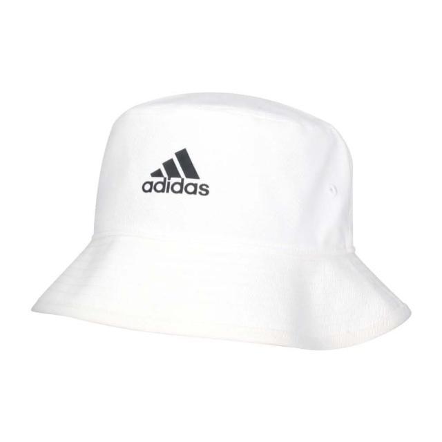 【adidas 愛迪達】漁夫帽-純棉 防曬 遮陽 運動 帽子 愛迪達 白黑(H36811)