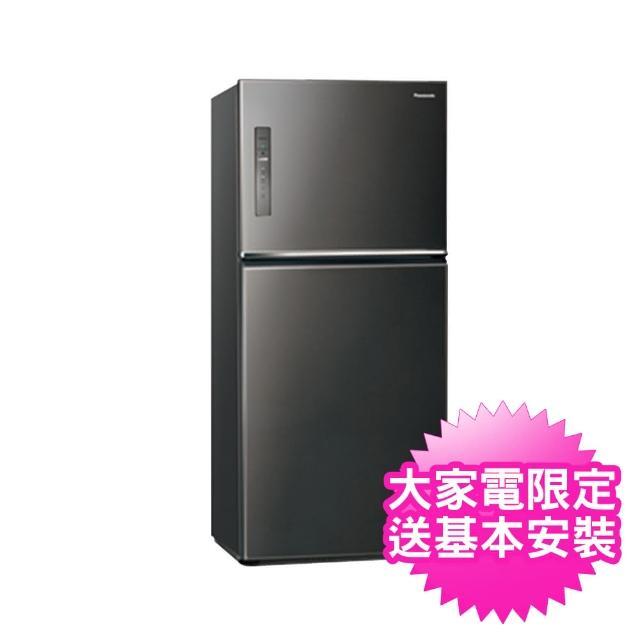 【Panasonic 國際牌】送炒鍋※能源效率一級650公升雙門冰箱(NRB651TV/NR-B651TV)