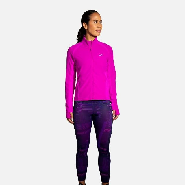 【BROOKS】女 Fusion 防水保暖外套_洋紅色/天芥菜紫(221499633)
