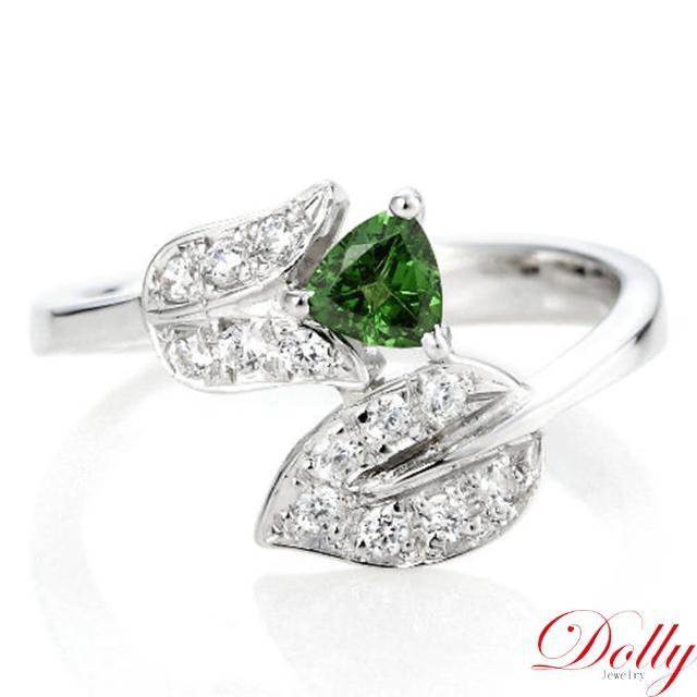 【DOLLY】無燒沙佛萊 銀飾戒指(001)
