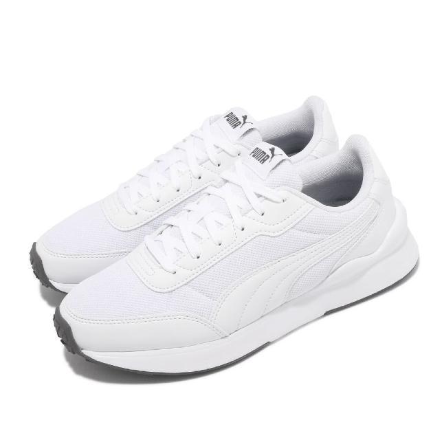 【PUMA】休閒鞋 R78 FUTR Decon 男女鞋 基本款 上學 網布 透氣 情侶穿搭 白 灰(37489604)