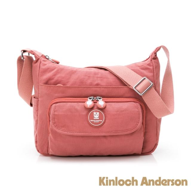 【Kinloch Anderson】FRANCIS 大容量斜側包(桃紅色)