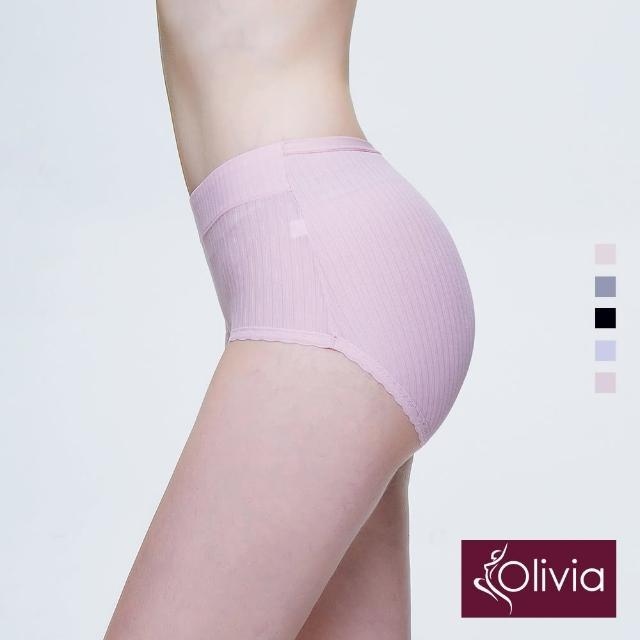 【Olivia 奧莉葳】舒冉系列-木棉花 高彈力棉質加寬中腰三角褲