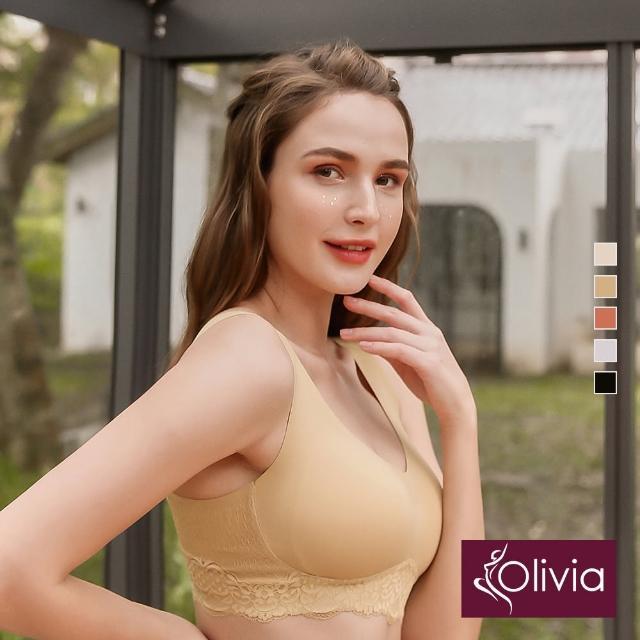 【Olivia 奧莉葳】舒冉系列-洋桔梗 無鋼圈無痕蕾絲輕氧內衣