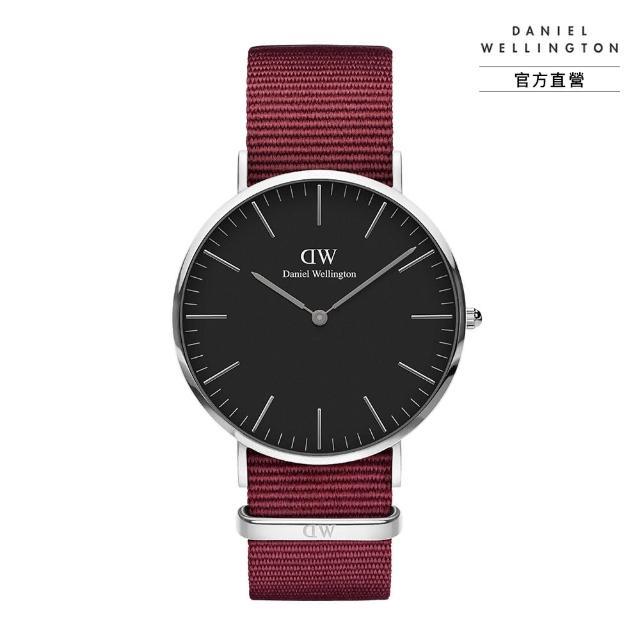 【Daniel Wellington】官方直營 Classic Roselyn 40mm玫瑰紅織紋錶 絕版品(DW手錶 DW00100270)