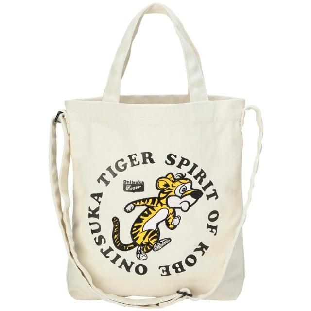 【Onitsuka Tiger】鬼塚虎 官方旗艦店 簡約卡通 帆布袋(3183A621-101)