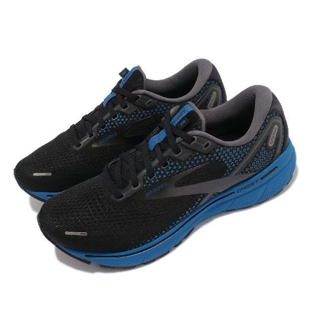 【BROOKS】慢跑鞋 Ghost 14 2E 寬楦 運動 男鞋 防震 穩定 流暢 柔軟 舒適 黑 藍(1103692E056)