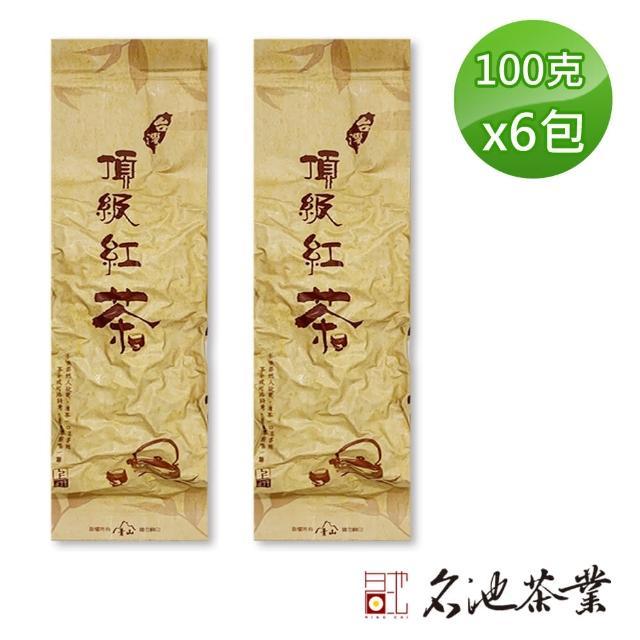 【名池茶業】台灣純手採高山蜜香紅茶(100gx6 共1斤)