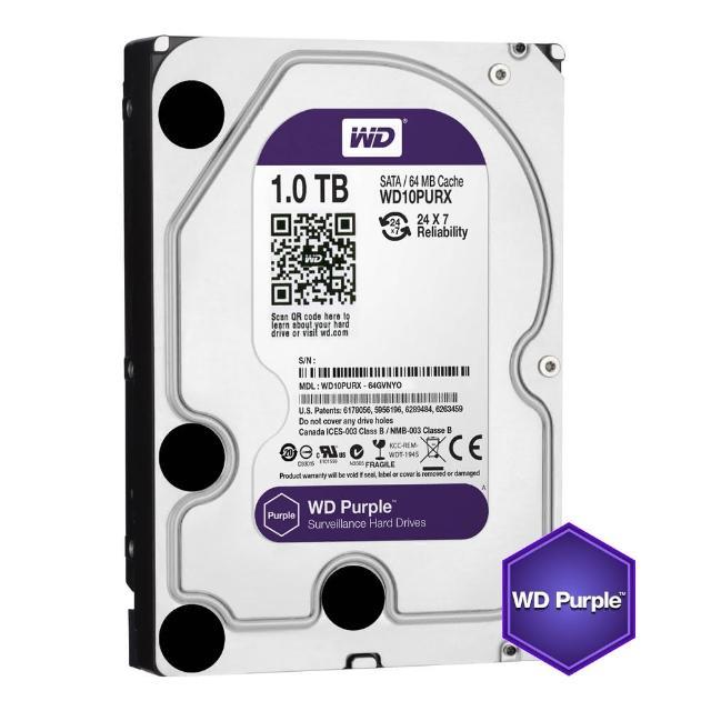 【搭SanDisk 128GB 記憶卡】WD 威騰 紫標 1TB 3.5吋監控系統硬碟(10PURZ)