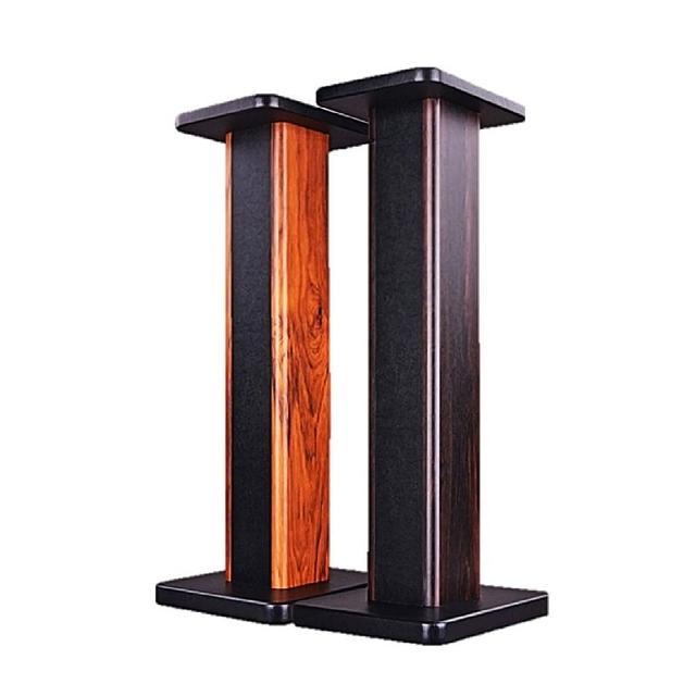 【B&A】高品質木紋質感加厚穩固 音響腳架 環保實心木材喇叭架(耐重防摔)