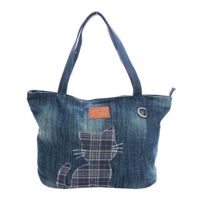 【KIRO 貓】牛仔布 大容量 手提袋/肩背包/托特包(25003802)