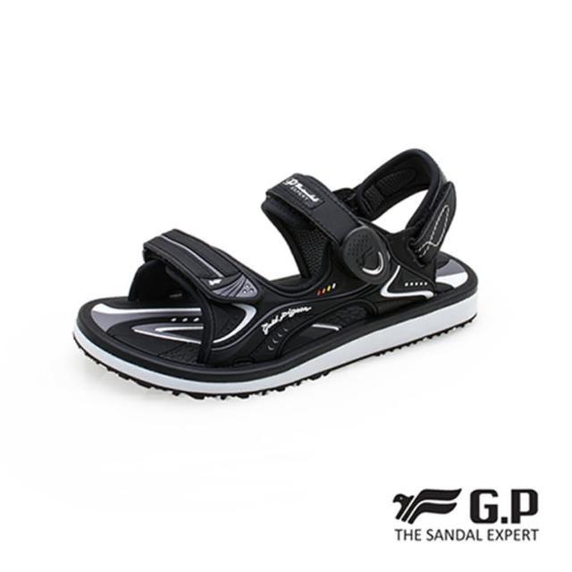 【G.P】女 高彈力舒適兩用涼拖鞋 女鞋(黑)