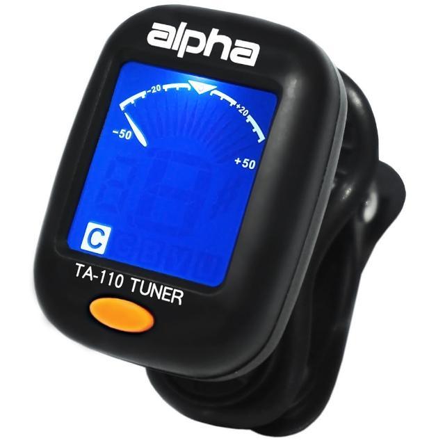 【Alpha】TA-110 夾式調音器 各種樂器均通用/原廠公司貨(TA-110夾式調音器)