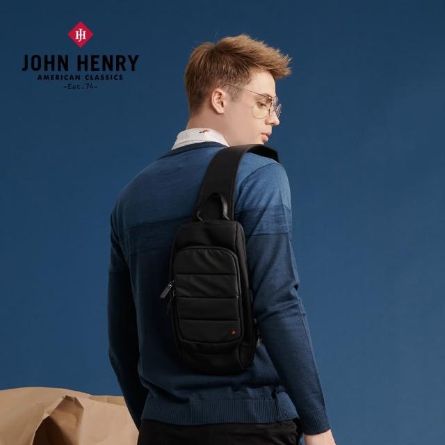 【JOHN HENRY】LOGO單肩背包-黑