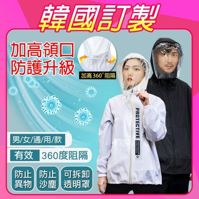 【K.W.】防疫防風防飛沫夾克防護外套獨家訂製可拆式面罩(共2色)