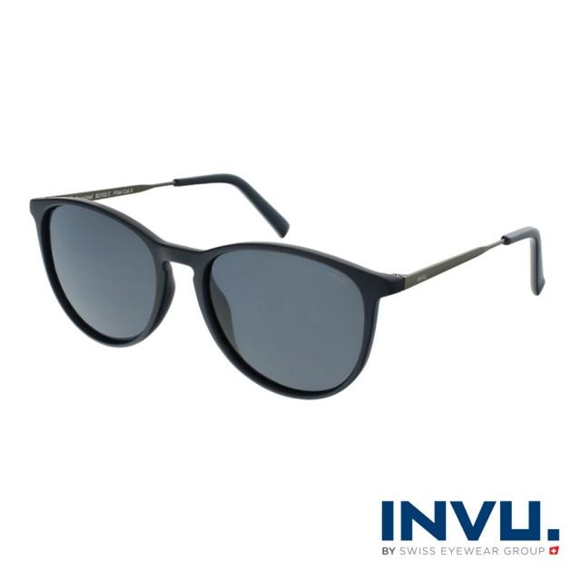 【INVU】瑞士都會流行偏光太陽眼鏡(海軍藍 B2102C)