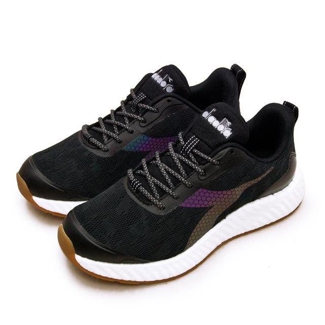 【DIADORA】男 迪亞多那 專業無縫TPU避震慢跑鞋 ETPU彈力球系列(黑灰 73129)