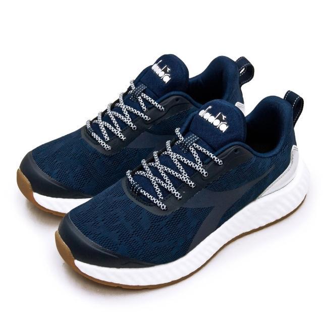 【DIADORA】男 迪亞多那 專業無縫TPU避震慢跑鞋 ETPU彈力球系列(藍灰銀 73130)