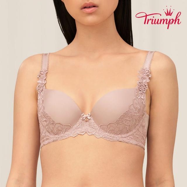 【Triumph 黛安芬】FLORALE璀璨薔薇系列 無痕包覆 D-E罩杯內衣(質感膚)