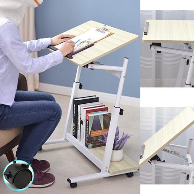 多功能高低傾斜床邊桌+移動輪(D145-X05)