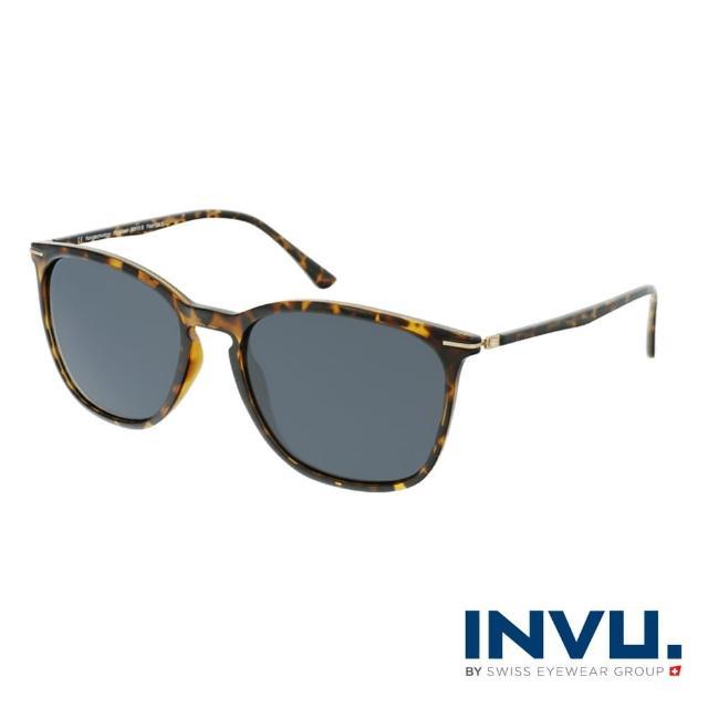 【INVU】瑞士簡約絞鏈設計偏光太陽眼鏡(琥珀 B2110B)