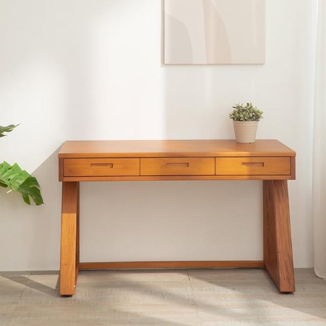【瑪荷尼家具Mahogany】全原木 雙子4尺書桌 G2