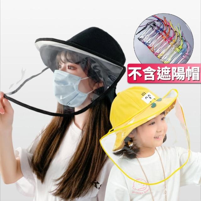 【I.Dear】成人兒童皆可防疫帽子專用可調節防疫面罩檔板(超值兩件組)