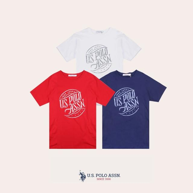 【U.S. POLO ASSN.】經典文字短袖T恤-多色任選(熱銷經典)