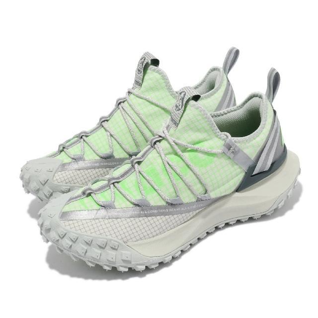 【NIKE 耐吉】戶外鞋 ACG Mountain Fly 男女鞋 襪套 都市機能 反光 情侶穿搭 簡約 綠 灰(DJ4030-001)