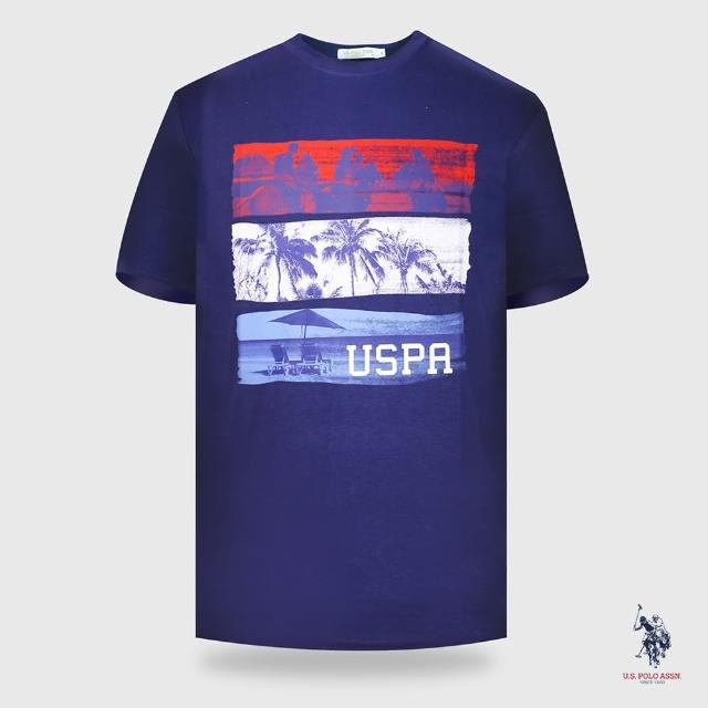 【U.S. POLO ASSN.】椰林設計短袖T恤-兩色(熱銷經典)