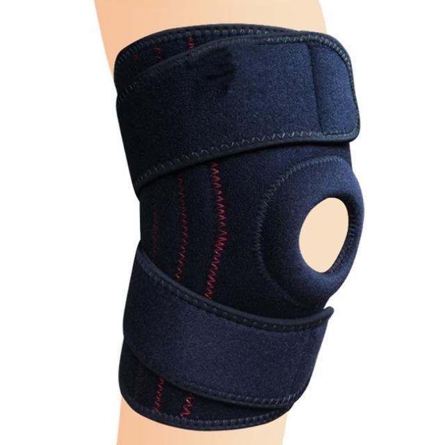 【PUSH!】戶外休閒用品加壓穩定支撐4根彈簧登山護膝戶外運動護 具(運動裝備1入H35)