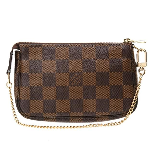【Louis Vuitton 路易威登】N58009 經典Damier帆布小巧手拿包